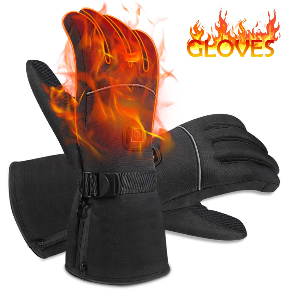 NEWXLT Winter Heated Gloves,Hand Warmers with 3 Levels Temperature Control,Battery Powered Hand Warmers Waterproof Gloves for Outdoor Sports Skiing Cycling Riding Hunting Fishing,Winter Best Gift