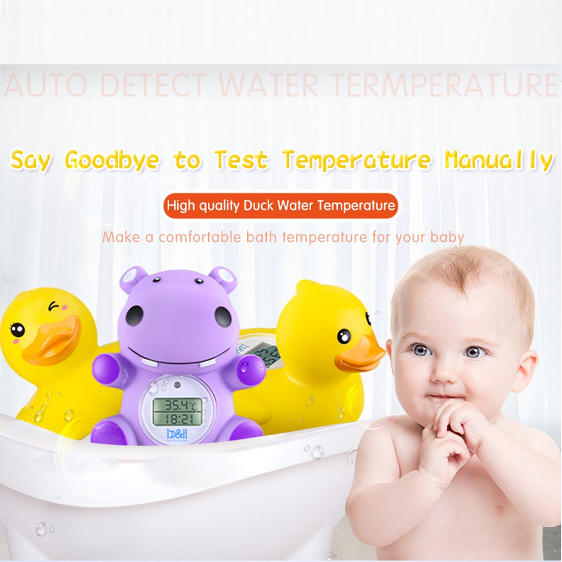 Amazon.com: b&h Baby Duck Thermometer, the Infant Baby Bath Floating ...