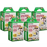 Fujifilm Instax Mini Instant Film, 10 hojas de 5 paquetes × 2 (100 hojas) - Producto no autorizado