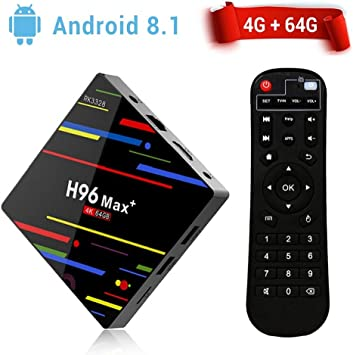 H96 Max Android 8.1 TV Box Quad-Core 4G+64G 5G WiFi Bluetooth Media Player Lot