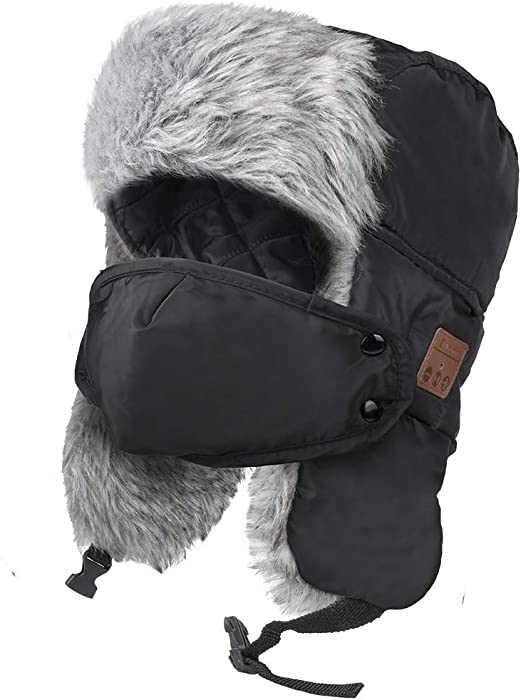 3da2e0ddc1a0e Amazon.com  HIGHEVER Bluetooth Winter Trapper Hat