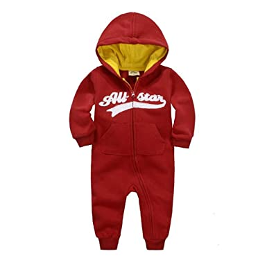 Amazon.com: Chitop Spring Baby Rompers Newborn - Cotton Tracksuit ...