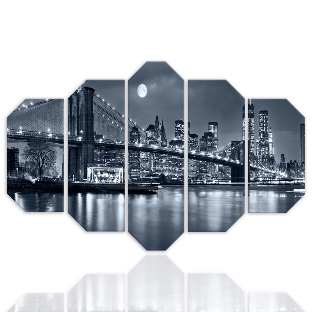 F FEEBY WALL DECOR Cuadro Poster XXL New York City 5 Partes ...