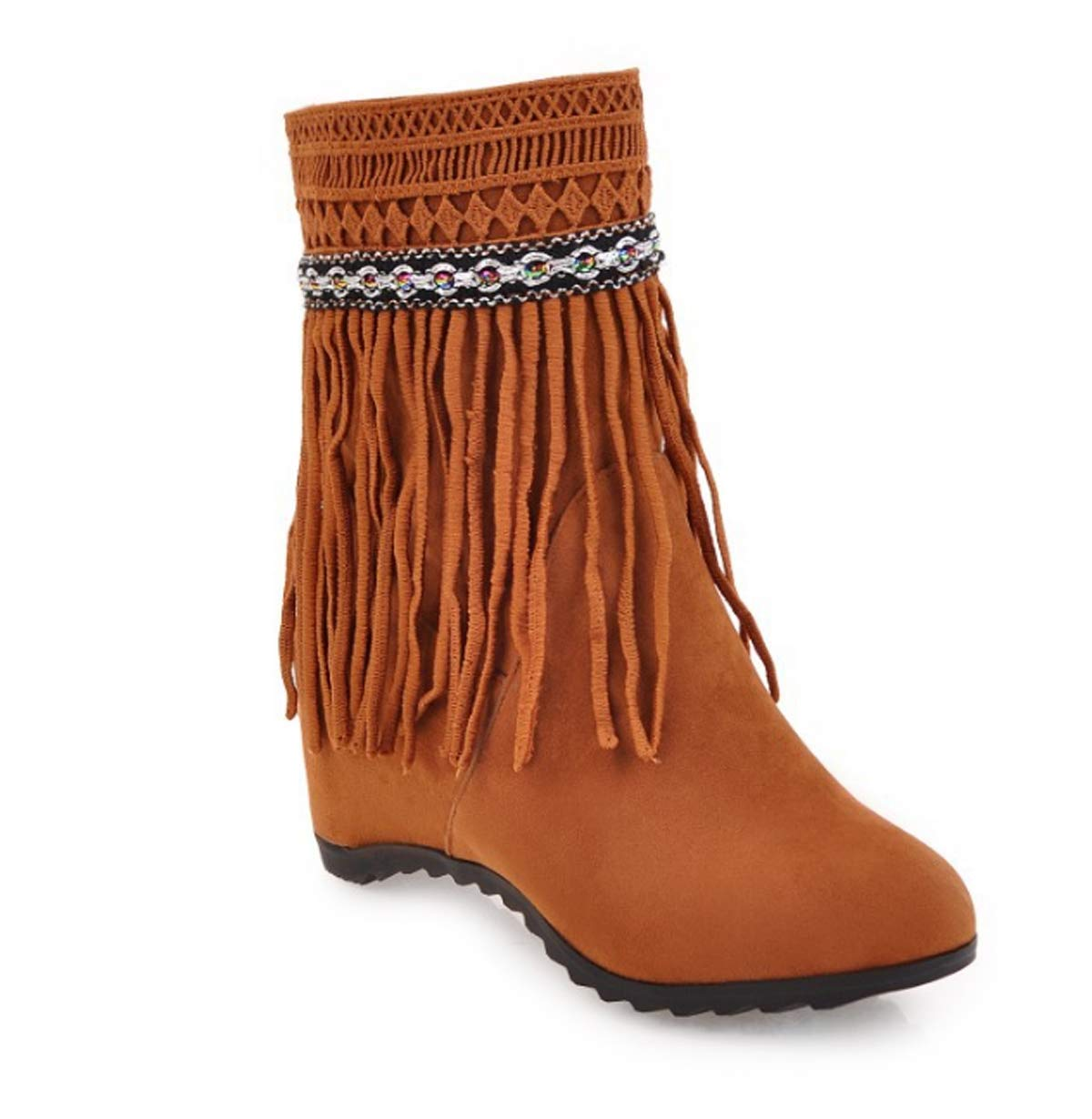 KPHY Damenschuhe/Ethnische Stil - Stiefel Mehr Rein 6 cm Flach Unten.