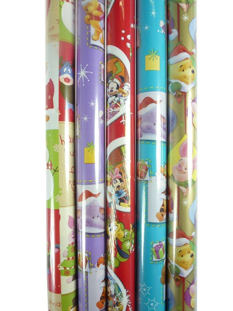 4er Set (4 Rollen) weihnachtliches Geschenkpapier, je 200x70cm ...