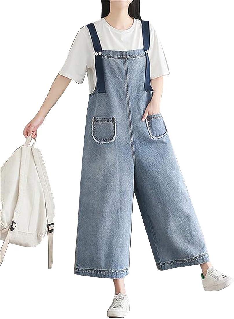 Whitive Women Romper Spaghetti Strap Overall Wide Leg Long Pants Jumpsuit