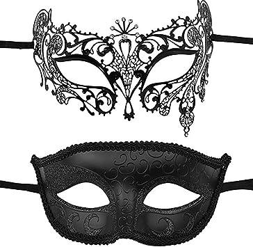 Yesy Pack De 2 Máscaras De Disfraces Venecianas para Parejas ...