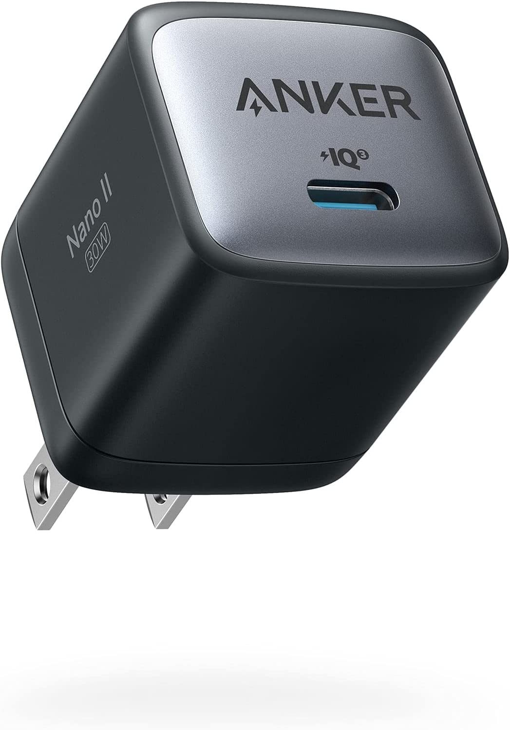 USB C Charger, Anker Nano II 30W Fast Charger Adapter, GaN II Compact Charger for MacBook Air/iPhone 12/12 Mini/ 12 Pro/Max, Galaxy S21/ S21+, Note 20/ Note 10, iPad Pro, Pixel, and More