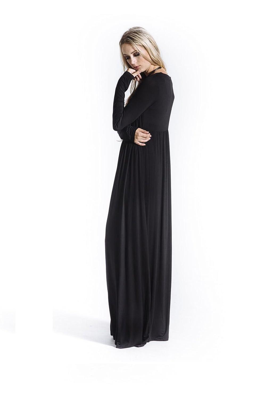 8933446c21 Black Babydoll Maxi Dress at Amazon Women s Clothing store