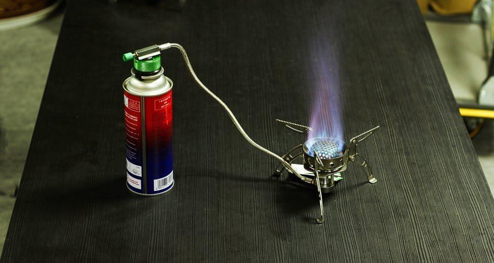 per Cannula di butano per Vincere la Cartuccia del Gas//Adattatore di valvola di Tipo Lindal Jeebel Camp Convertitore di Gas