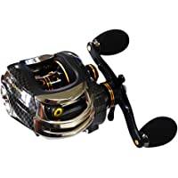 Baitcaster Reels Smooth Powerful Casting Reel 17+1 Ball Bearings Baitcasting Fishing Reel 7.0:1, Anti-backlash, Dual Brakes Fishing Reels