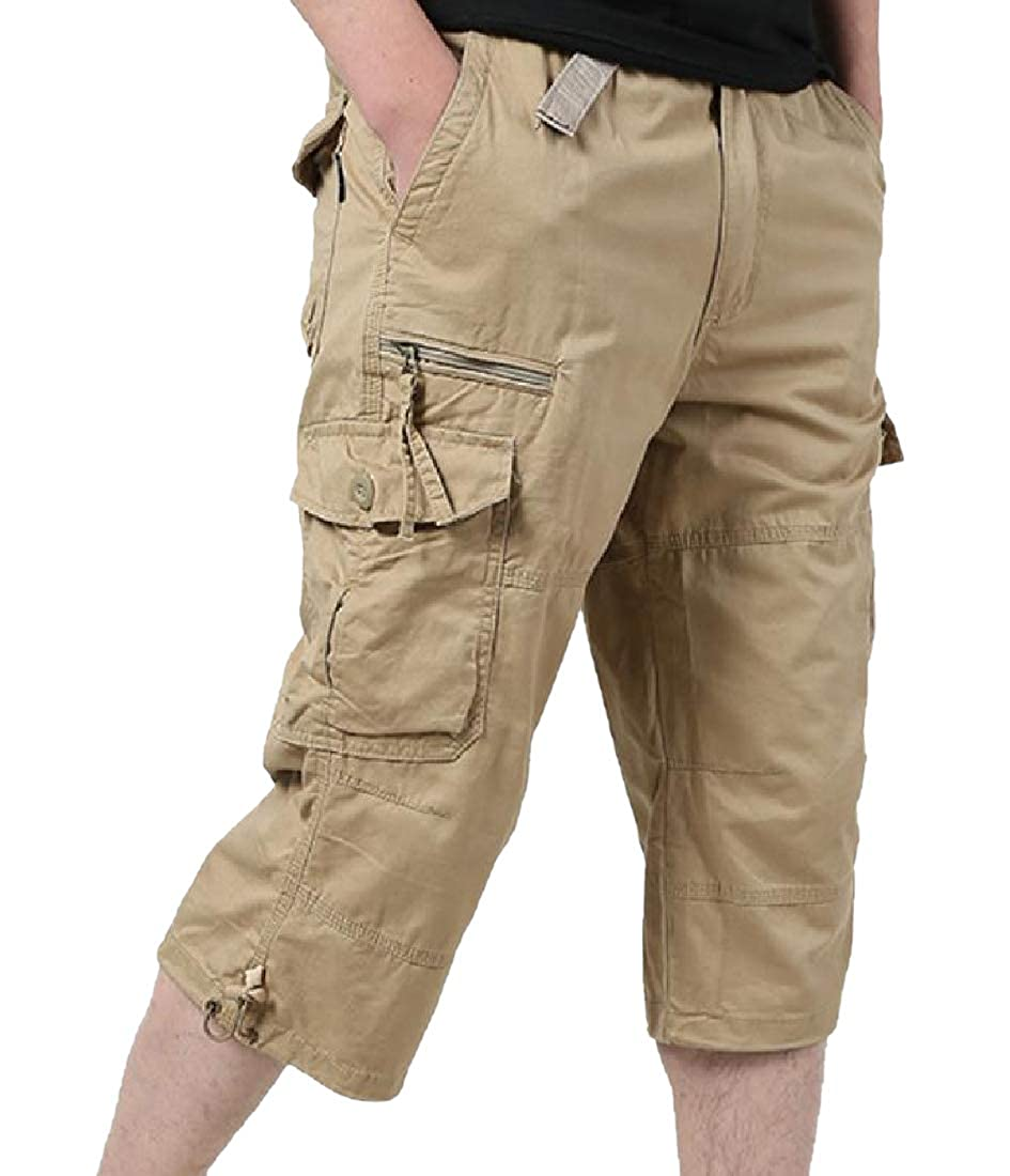 RDHOPE-Men Openwork Large Size Twill Fabric Straight-Fit Casual Pant