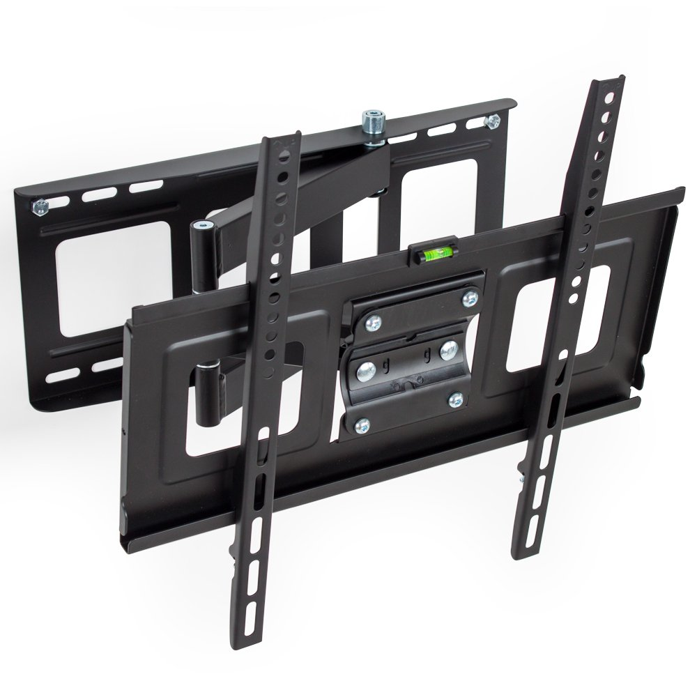 Tectake Support Mural Tv Universel Inclinable Et Pivotant Pour  # Pied Tv Orientable Tv Incurve