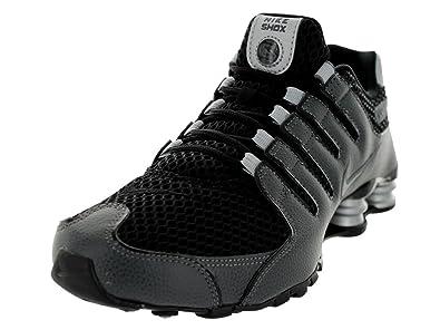 new style 4a222 5d172 Nike Men s Shox NZ Black Black Mtllc Slvr Drk Gry Running Shoe 8