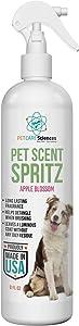 PET CARE Sciences Scent Spritz Dog Spray Deodorizer, Dog Freshening Spray, Long Lasting Dog Cologne, Apple Blossom Fragrance, 8 fl oz, Made in The USA