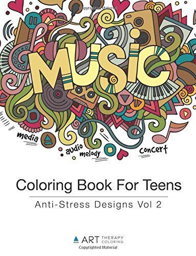 Amazon com coloring book for teens anti stress designs vol 2 volume 2 9781944427177 art therapy coloring books