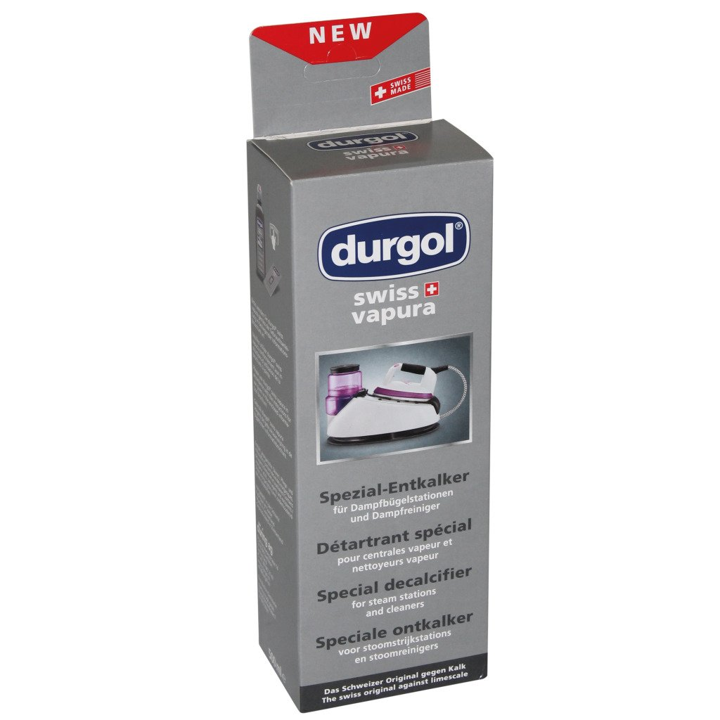 Durgol Swiss Vapura Descaler for Steam Ironing Systems / Steam Cleaners, 500ml, 4823 Düring AG