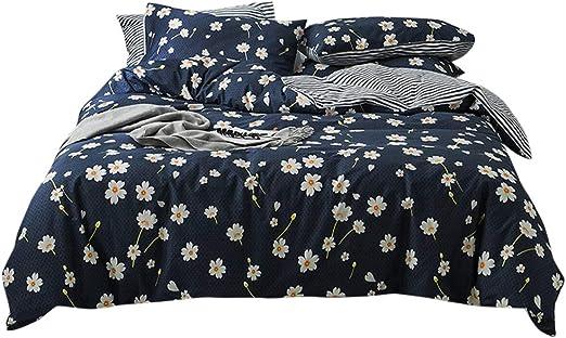 Reversible 8 pcs Complete Comforter /& Sheets Black Flower Stripes King Queen Set