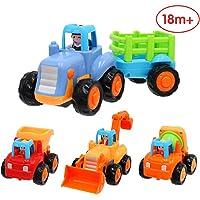 Kinder Spielzeugauto Baufahrzeug Kinderspielzeug Spielzeug Auto #1118 Gabelstapler mit R/ückzugsmotor und verstellbaren Gabelzinken