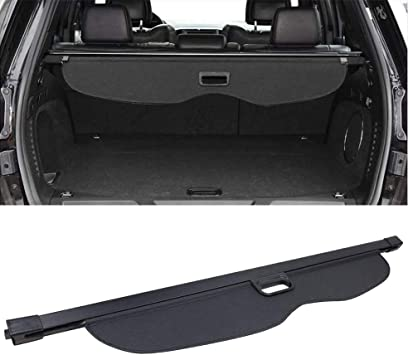 NOT Fit for Jeep Cherokee GTP Cargo Cover for 2011-2018 Jeep Grand Cherokee Retractable Tonneau Rear Trunk Security Shade Luggage Shield