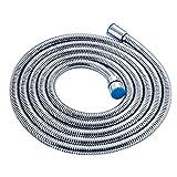 Alton Chromed Stainless Steel 1.5 Meter Double-buckle Flexible Shower Hose Handshower Hose Replacement Shower Tube, Health Faucet Tube, Flexible Tube