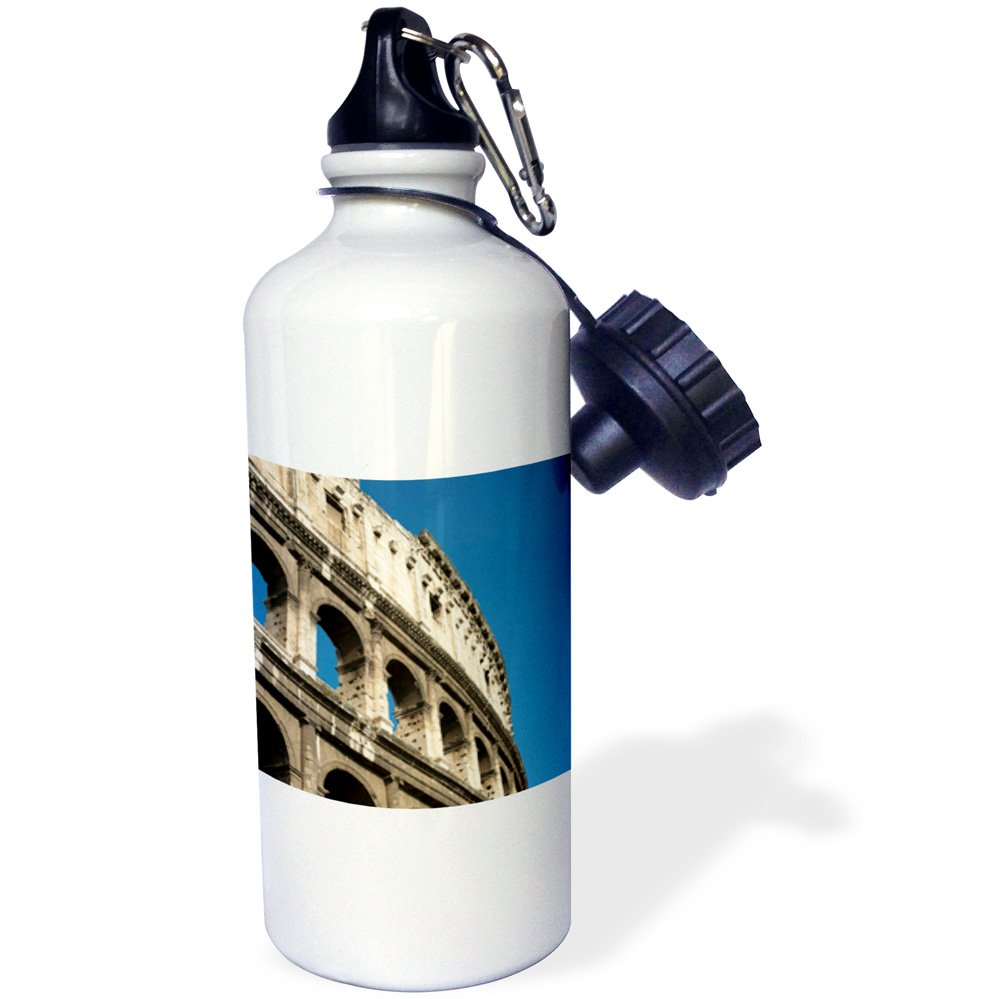 3dRose wb_137748_1 ''Flavian Amphitheater, the Coliseum, Rome, Italy EU16 DNY0018 David Noyes'' Sports Water Bottle, 21 oz, White