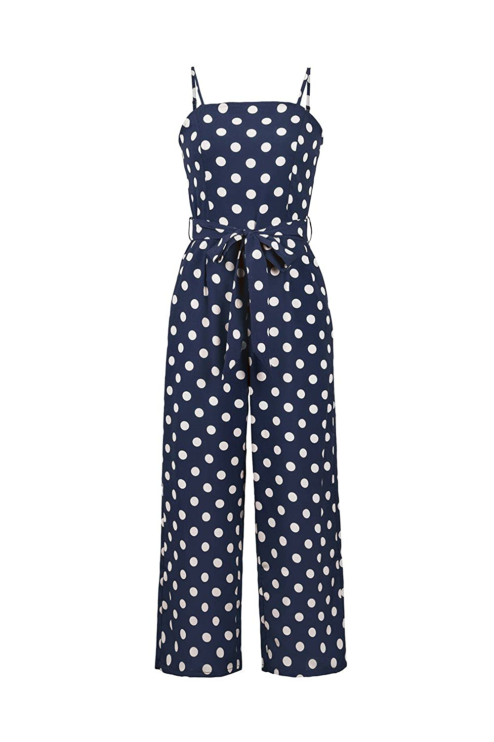 cffe2a246ff97 Online Cheap wholesale Womens Summer Beach Polka Dots Strap Bow Knot Long  Pants Backless Jumpsuit Suppliers