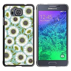 Be Good Phone Accessory // Dura Cáscara cubierta Protectora Caso Carcasa Funda de Protección para Samsung GALAXY ALPHA G850 // Teal Olive Flower Floral Pattern
