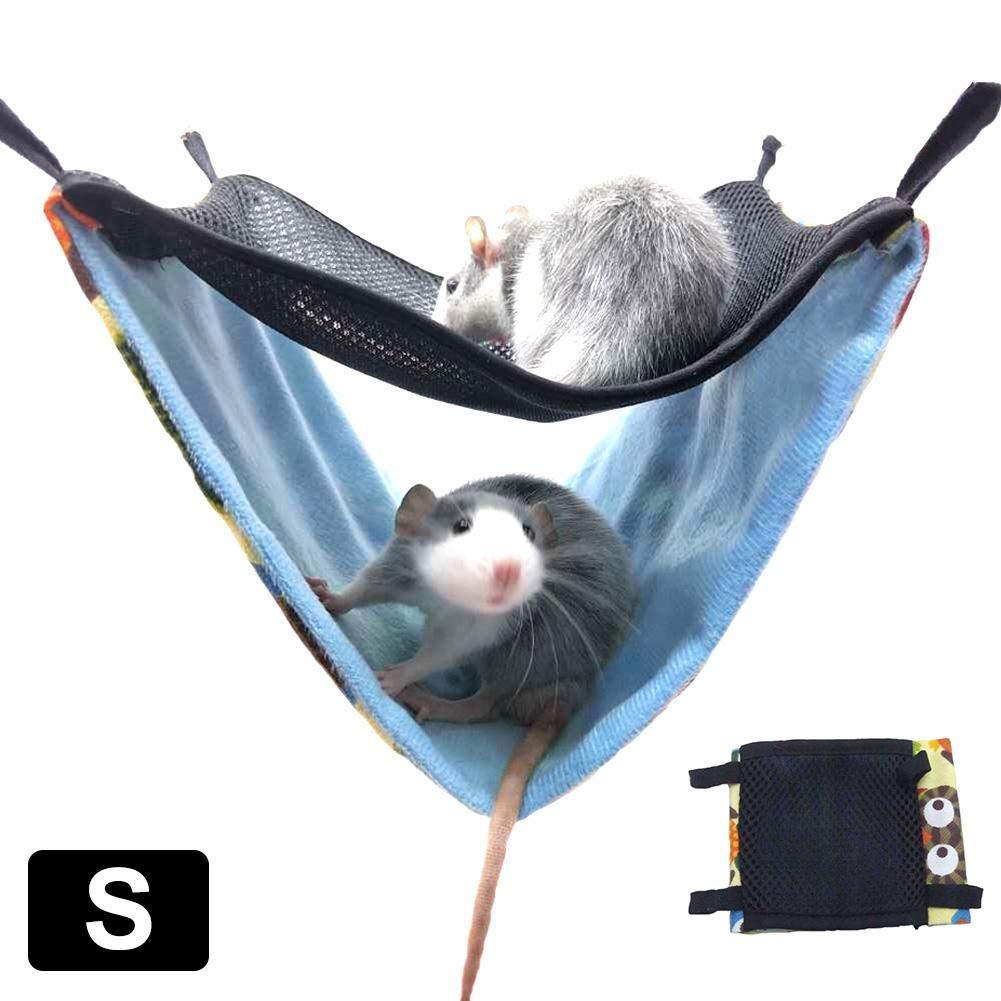 learnarmy Hamster Hammock Chinchillas Ferrets Double Breathable Mesh Hammock Small Pet Cotton Safety