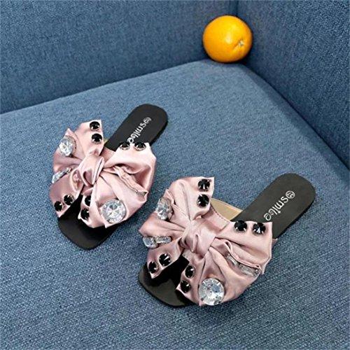 Jamicy® Frauen Hausschuhe, Frauen Mädchen Sommer Fliege Flache Anti Skidding Strand Casual Hausschuhe Schuhe Rosa
