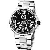 New Mens ULYSSE NARDIN Marine Chronometer Manufacture Black Watch 1183-122-7M/42