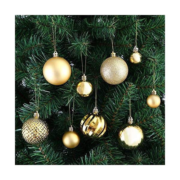 Lhbfcy Sfere per Albero Natale Set Plastica Palle Palline Nozze Dell'albero Pallina Verniciata Bagattelle Artigianali Palla per Brillanti Pendenti Natale Scintillanti Deco 4 cm/1.57 Pollici(48 PZ) 4 spesavip