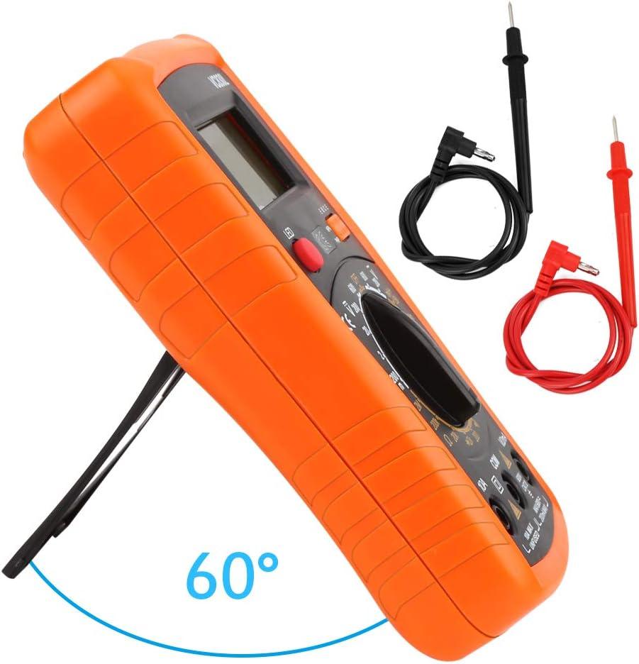 voltm/ètre AC//DC courant r/ésistance transistor diode testeur de continuit/é /écran LCD testeur de tension Testeur de courant Redmoo Multim/ètre num/érique orange