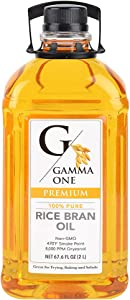 Gamma One 100% Pure Rice Bran Oil, 67.6 Ounce