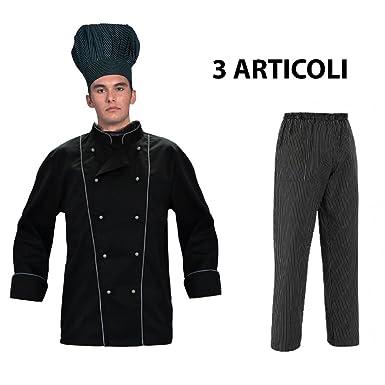 Avec CuisinierVeste Tenue De Et GrisToque Noire Ensemble Bords 4L35jRAq
