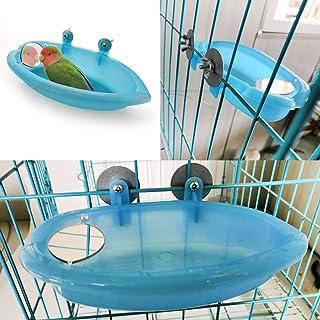 Small Parrot Bird Bathtub Pet Cage Accessories Bird Mirror Bath Shower Box