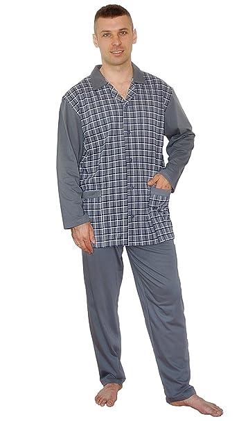 BigSize Pijamas para Hombres Pijamas 100% Algodón Ropa de Noche Tallas  Grandes 3XL 4XL 5XL 74dcff56a4de