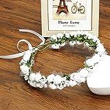 New Spring Romantic Bridal Wedding Wreath Headwear Foam Flower Crown Headband Hairband for Women Hair Accessories White