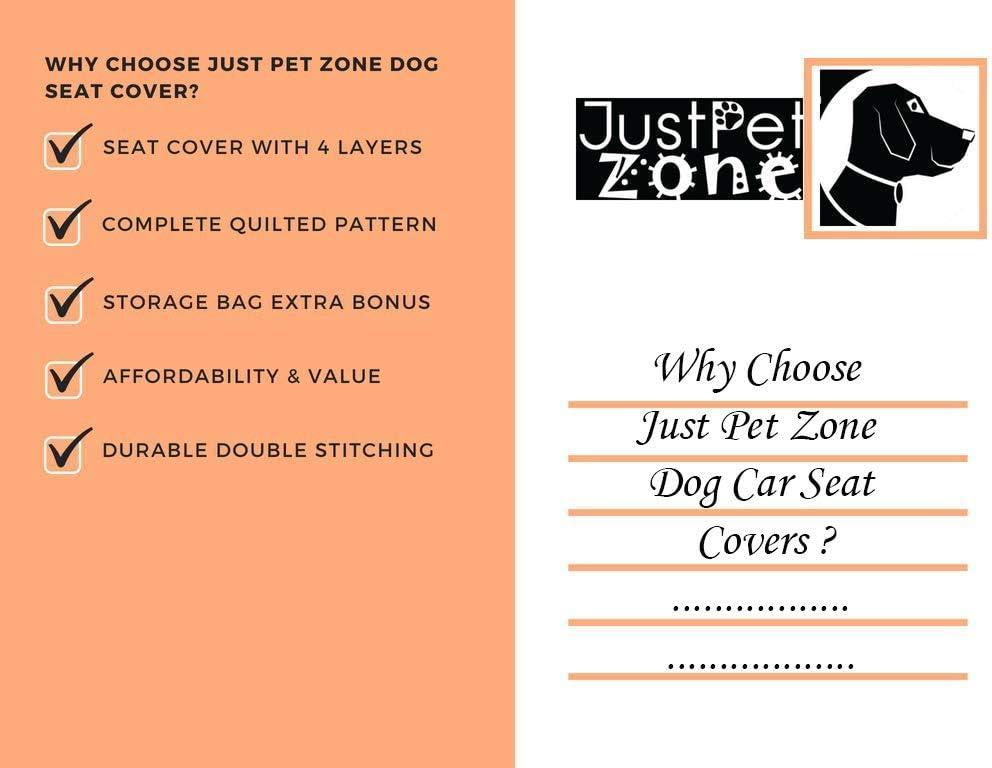 imperm/éable 4 couches lavable et antid/érapante Housse de protection pour si/ège de voiture pour chien matelass/ée avec un sac de rangement