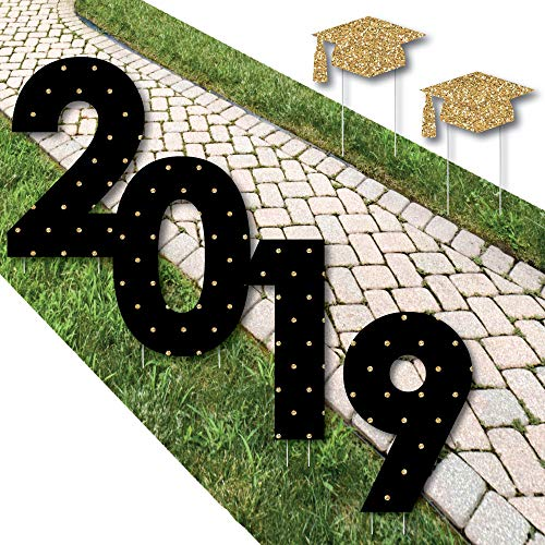 Big Dot of Happiness Gold Tassel Worth The Hassle - 2019 Yard Sign Outdoor Lawn Decorations - Graduation Party Yard Signs - 2019