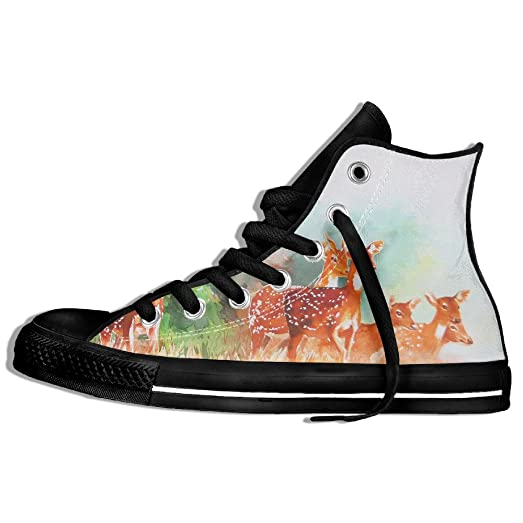 Watercolor Deer Shoes For Men Casual Shoes
