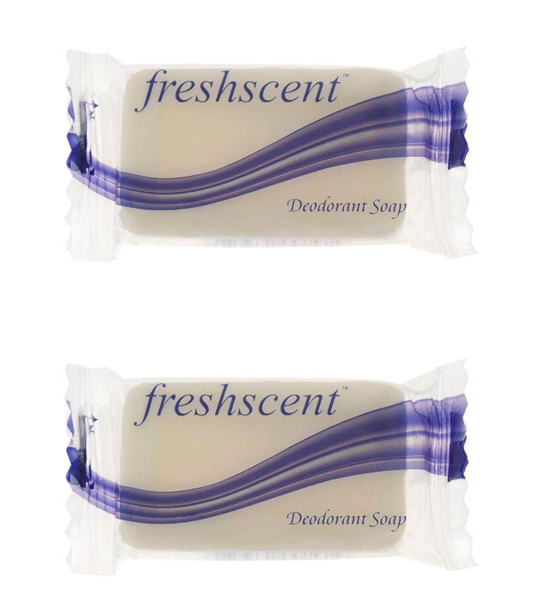 1000 Pieces - Wholesale Freshscent .35 oz Deodorant Soap - Bulk Case Travel Size Hygiene Toiletries