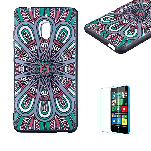 Funyye Relief Rubber Case for Nokia 2.1 2018,Stylish Mandala Pattern Soft Silicone TPU Gel Cover,Shockproof Non Slip Back Cover Smart Shell Protective Case for Nokia 2.1 2018