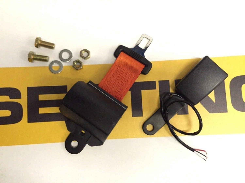 Retractable Seat Belt Seatbelt Hi Visibility Orange with Switch Forklift Digger Dumper