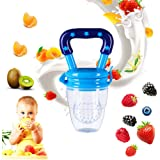 Baby Food Feeder Fresh Fruit Feeder Pacifier Infant Teething Toy Teether S M L 3 Size Available (Blue, L)