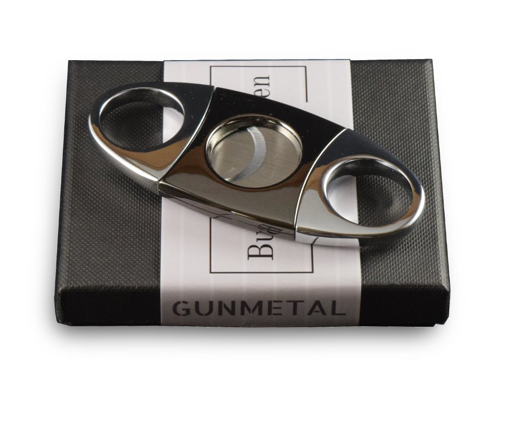 Cigar Cutter | Guillotine Cut | Gunmetal | Stainless Steel | Fits Most Cigars | Buck Magnussen