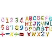 OUNONA Lettres et numéros d'apprentissage magnétiques Jouets éducatifs pour enfants