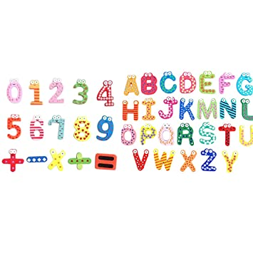 bestomz fridge magnets alphabet refrigerator magnet magnetic letters and numbers toys