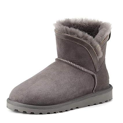 0a7fe26cb4189 Amazon.com: Hy Women's Shoes New Winter Flat Warm Snow Boots ...