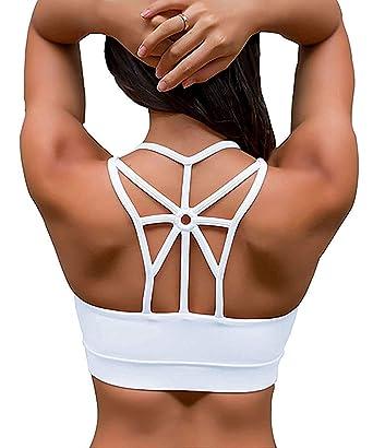 marques reconnues amazon Nouvelle liste YIANNA Femme Soutien Gorge Sport Coussinets Amovibles Élastique Brassière  Sport sans Armatures sous Vetement Sport